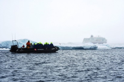 Beside landings on shore, we had a number of zodiac cruises exploring the icebergs and shorelines