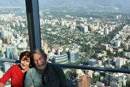 Carol & Phil high above the city of Santiago