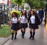 School girls heading home in Santiago