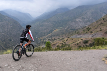 This girl was mountain biking through this beautiful region of the country