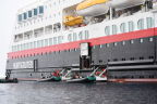 This is the tender dock on the ship. Our means of entering and exiting our zodiacs