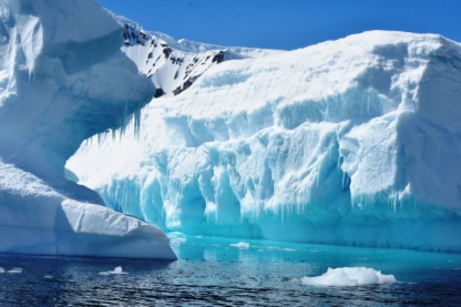 I thought the iceberg on the left looked like a dog-see his eyes, ear, nose, whiskers and his laying on his front paws