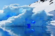 I have never seen blue ice as in Antarctica