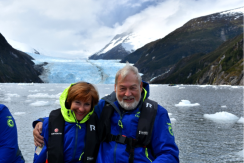 Carol and Phil in front of the Garibaldi glacier