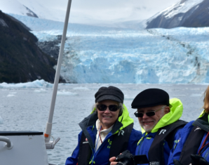 Lana and Dwight by the glacier