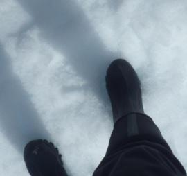 Carol's first steps onto the Antarctic Peninsula