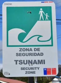 In Florida, we have Hurricane emergency routes.. Here, it's Tsunami emergency routes.
