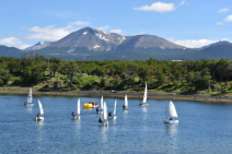 This was a sailing class held in the bay. What a great place to learn how to sail a boat.