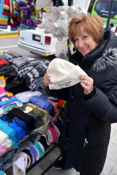 Carol doing some Christmas shopping