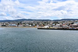 Looking back on Punta Arenas as we sail away