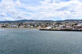 Looking back on Punta Arenas as we sail away