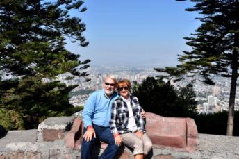 Phil & Carol overlooking the city of Santiago