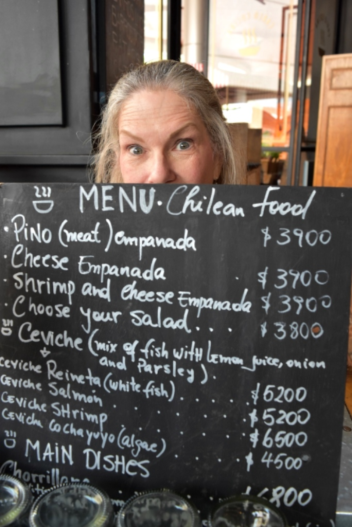 Lana with the lunch menu for today