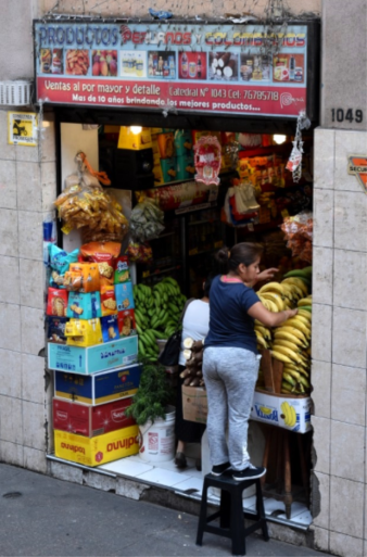 Typical market in the streets of Santiago