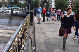 "Like many European cities, licks decorate many of the local bridges. Lovers put these on symbolizing the ""locking"" of their love and then throw the key in the river."