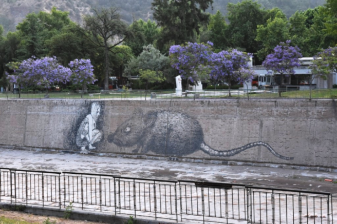 Graffiti takes on an art form here in Santiago
