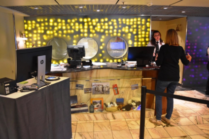 Front Desk on deck 4 is the place to go for any information needed