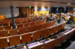 The amphitheater on board is used for Briefings and very interesting presentations