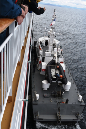 Our pilot for Cape Horn comes aboard