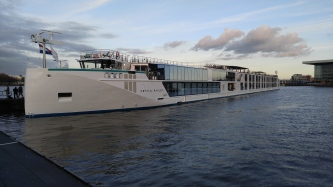 Our River Cruise Ship awaits our arrival in Amsterdam