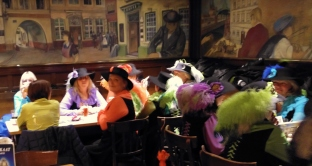 Don't ask me what these ladies were celebrating in the Brewhouse, but they certainly were noticeable