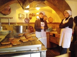 The kitchen at the old Sausage House