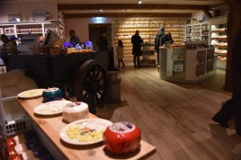 Lots of samples available all around the cheese showroom