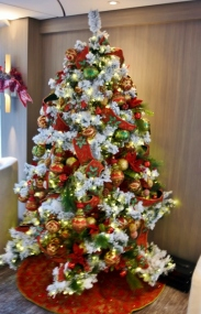 There are a number of Christmas trees on board