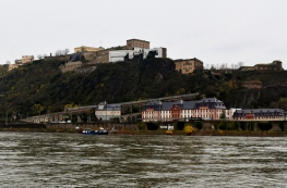 Approaching Koblenz, we see the Fortress high above