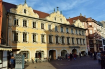 One of the ornate buildings in Wurzburg