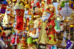 Locally made ornaments in the market