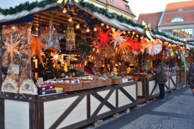 This was the opening day for the Christmas Markets here