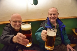 Bamberg is known for its Smokey Beer, so Dwight and Nat decided to try some.