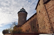 The Old City walls in Medieval Nuremberg