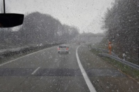 Here you can see how the snow was coming down while we were driving