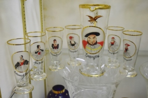 We found this interesting set of goblets in the glass museum - Henry the Eighth and all his wives