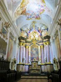 Inside the Amorbach Abbey