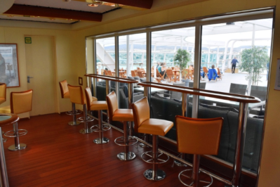Bar looking out over the open deck 9