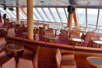 This lounge on the front of the ship has a 270 degree view